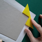 Corner Gizmo for perfect bookbinding corners - yellow