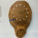 Chunky English Oak Wooden Wall Clock