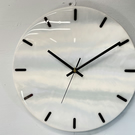 Pale Blue and Gray Resin Wall Clock 33cm