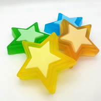 Set Of 3 - Star Shaped Handmade Soap
