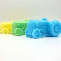 Children's Tractor Shaped Handmade Soap