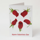 Valentine Card – Romantic Card - Red Roses - Exclusive and Luxurious