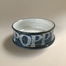 Hand painted 'POPPY' Water Bowl, Feeding Bowl