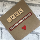 Personalised Valentines Day or Anniversary card - Love Is more