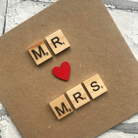 Personalised Handmade Valentines Day, Anniversary, wedding or engagement card