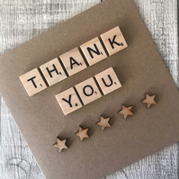 Personalised Handmade Thank You card