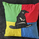 Sorting Hat Inspired Appliqué Cushion