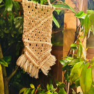 Small Macrame Wall Hanging - White Beige