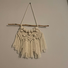 Small Handmade Macrame Wall Hanging - White Beige - BERRY