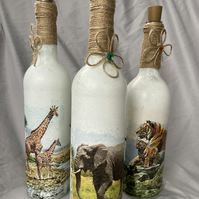"The ""Safari Collection"" LED Bottle Lamps"
