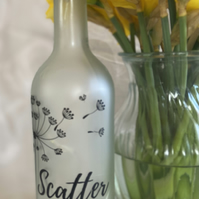"""Scatter kindness"" Frosted Bottle Lamp"