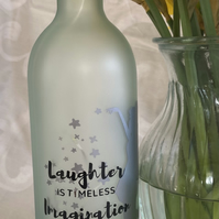 """Laughter is timeless"" LED Bottle Lamp"