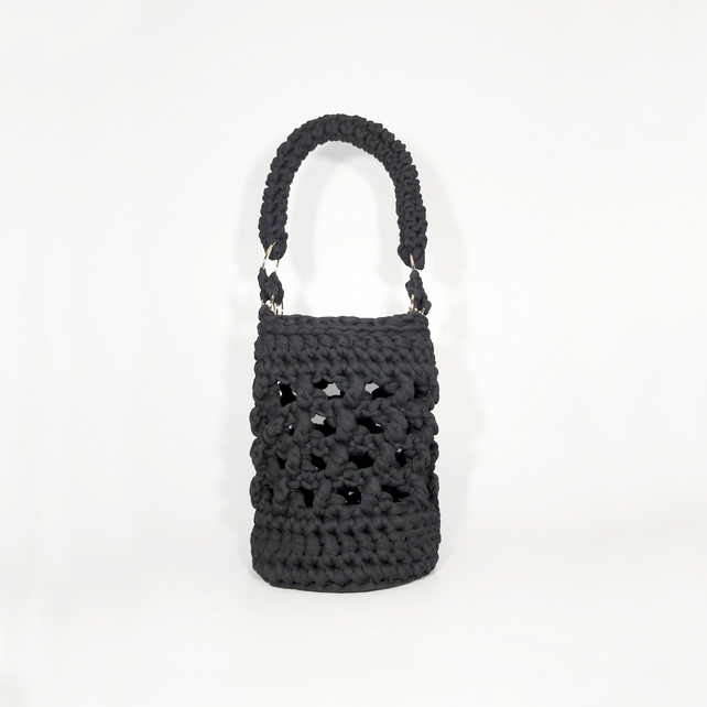 Open Stitch Bucket Bag