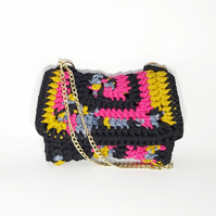 Multicoloured Crossbody Chain Strap Bag