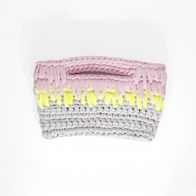 Layered Stitch Clutch