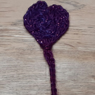 Small Heart Crochet Bookmark