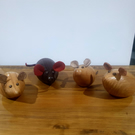 Wood turned mice