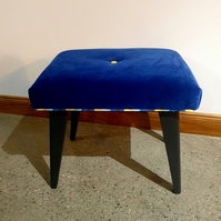 Electric blue stool