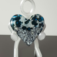 Fused Glass Heart