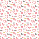 Beautiful Pink And Gold Love And Hearts Wrapping Paper