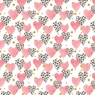 Stunning Pink Animal Print Hearts Wrapping Paper