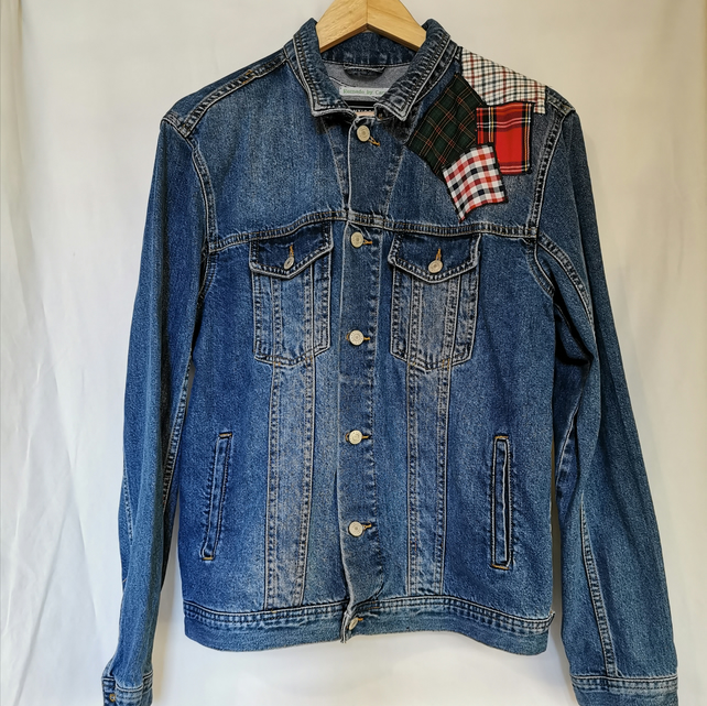 Up-cycled denim jacket