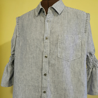 Up-cycled linen shirt