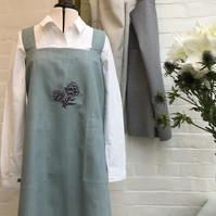Apron Embroidered Linen