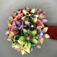Paper Flower Bouquet - Small Kusudama Posy with Vase