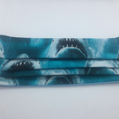 Face mask, face covering, pleated mask, free postage, sharks, great white