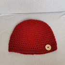 Handmade Crochet Button Beanie Hat 1-2 years
