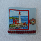 Sewing Needle Case with Lighthouse. Seaside Sewing Needle Case