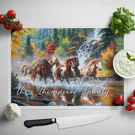 Personalised Glass Chopping Board - Horses