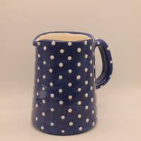 Blue and White Spotted Jug