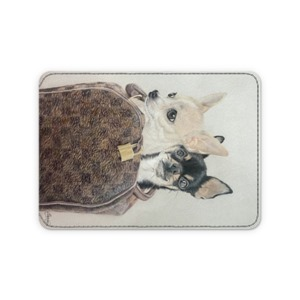 Luxury Chihuahuas leather card holder