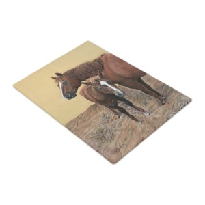 Mare and foal chopping board