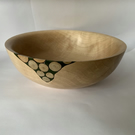 Sycamore handmade bowl with branch inlay - 23cm