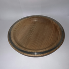 Handmade ash bowl with pewter inlay - 23cm