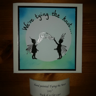 We're Tying the Knot.  Hand painted fairy, magical invitation.