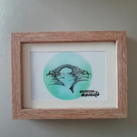 Fairy bridge framed hand painted picture. Adventure Awaits.