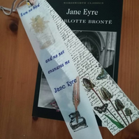 Charlotte Brontes Jane Eyre bookmark featuring a quote from the book
