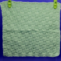 Hand-Knitted Organic Cotton Cloth (Green)