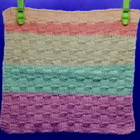 Hand Knitted Organic Cotton Cloth (Multi-coloured)