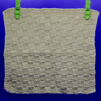 Hand Knitted Organic Cotton Cloth (Beige)