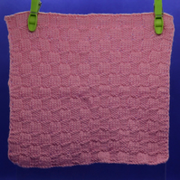 Hand-Knitted Organic Cotton Cloth (Pink)