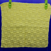 Hand-Knitted Organic Cotton Cloth (Yellow)