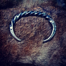 Hand forged Viking twisted rune torc