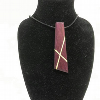 Purpleheart Pendant Necklace