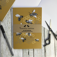 Bee Notebook A5 Made from Recycled Paper