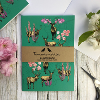 Deer Notebook - Recycled A5 Notebook- Animal Notebook